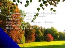 Die beiden größtenStädtein Deutschland sind nichtminderwertigzu einander ...