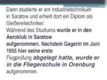 Dann studierte er am Industrietechnikum in Saratow und erhielt dort ein Diplo...