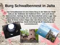 Burg Schwalbennest in Jalta Das Schwalbennest ist eine kleine Burg in der Näh...