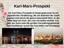 Karl-Marx-Prospekt Der Karl-Marx-Prospekt in Dnepropetrowsk ist ein gigantisc...