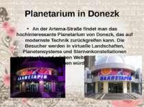 Planetarium in Donezk An der Artema-Straße findet man das hochinteressante Pl...