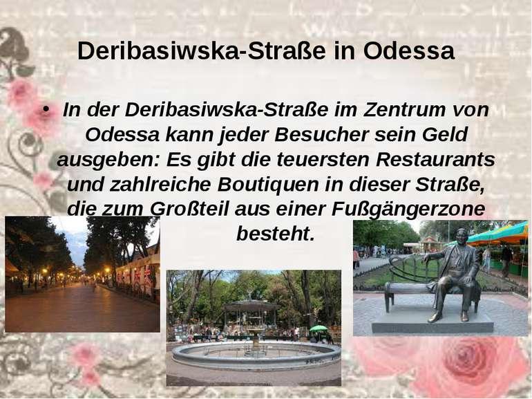 Deribasiwska-Straße in Odessa In der Deribasiwska-Straße im Zentrum von Odess...