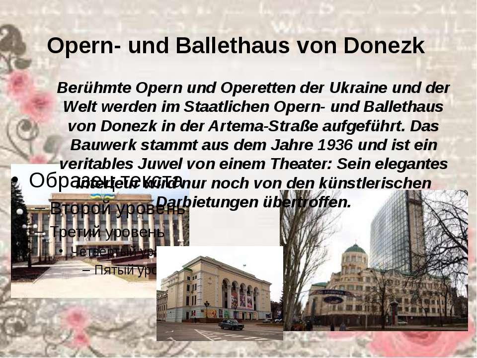 Opern- und Ballethaus von Donezk Berühmte Opern und Operetten der Ukraine un...