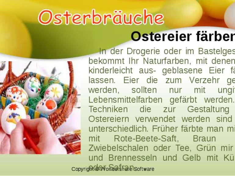 Ostereier färben In der Drogerie oder im Bastelgeschäft bekommt Ihr Naturfarb...