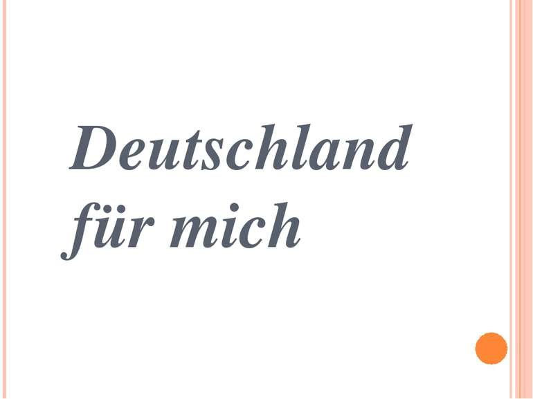 Deutschland für mich
