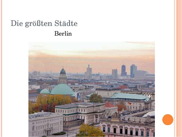 Die größten Städte Berlin