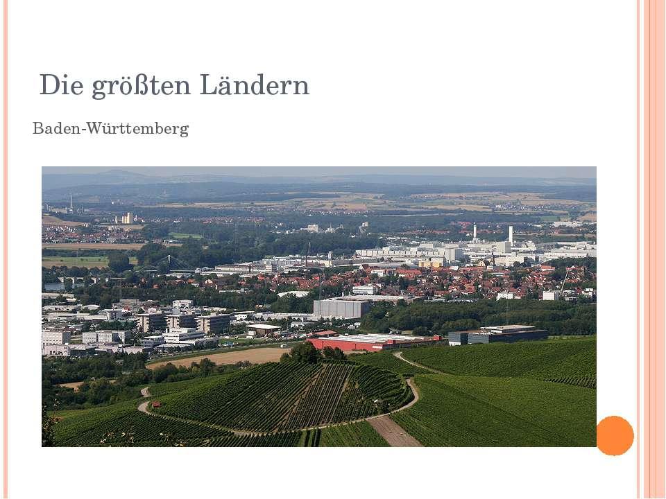 Die größten Ländern Baden-Württemberg