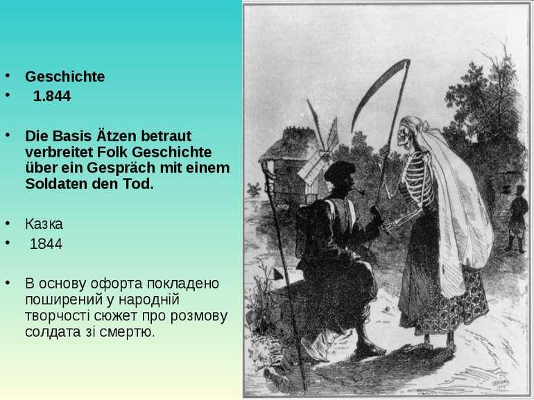 Geschichte  1.844 Die Basis Ätzen betraut verbreitet Folk Geschichte über ei...