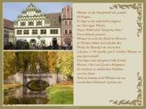 Weimar ist die Hauptstadt des Landes Thüringen. Es liegt in der malerischen G...