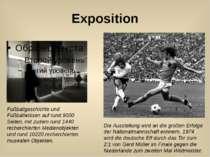 Exposition Die Ausstellung wird an die großen Erfolge der Nationalmannschaft ...