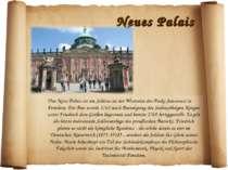 Neues Palais Das Neue Palais ist ein Schloss an der Westseite des Parks Sanss...