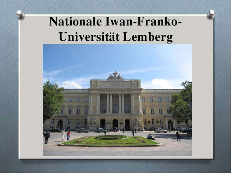 Nationale Iwan-Franko-Universität Lemberg