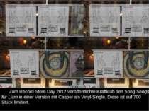 ZumRecord Store Day 2012 veröffentlichte Kraftklub den SongSongs für Liami...