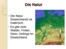 Die Natur Die Natur Deutschlands ist malerisch. Es gibt viele Wälder, Felder,...