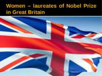 Women – laureates of Nobel Prize in Great Britain