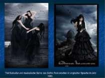 Titel Subkultur und musikalische Genre des Gothic Rock erschien in englischer...