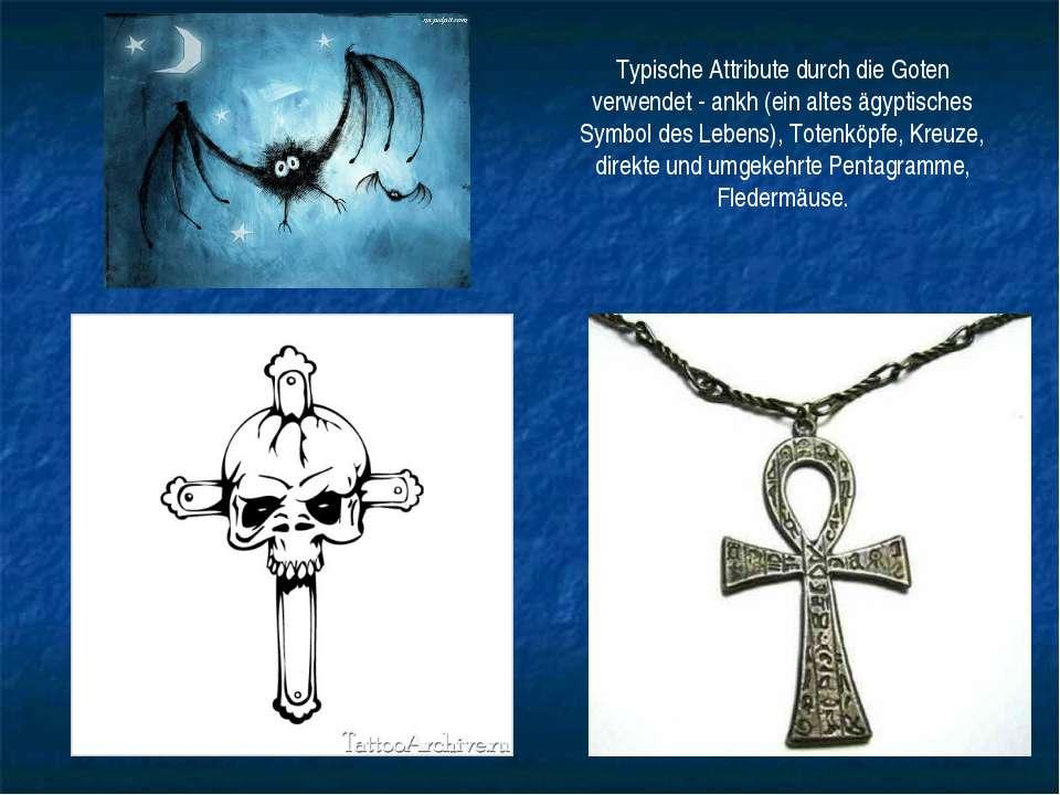 Typische Attribute durch die Goten verwendet - ankh (ein altes ägyptisches Sy...