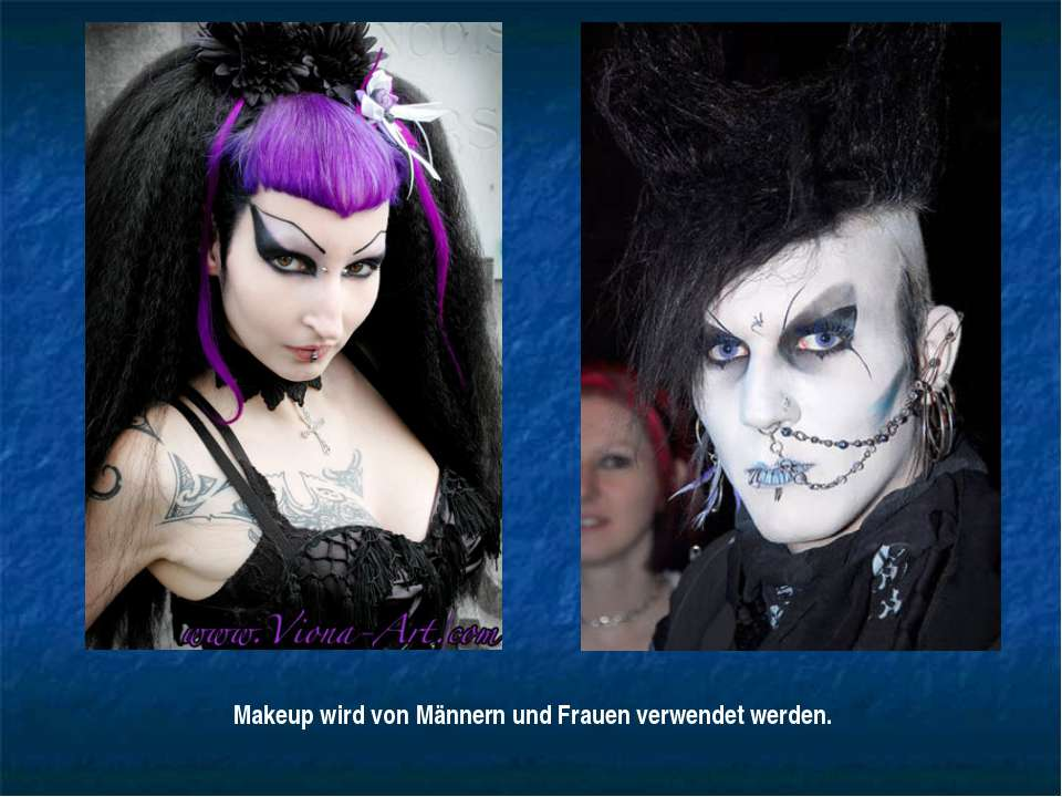 Makeup wird von Männern und Frauen verwendet werden.