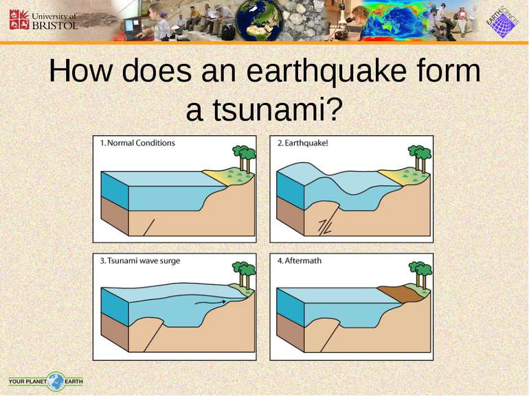 How does an earthquake form a tsunami?