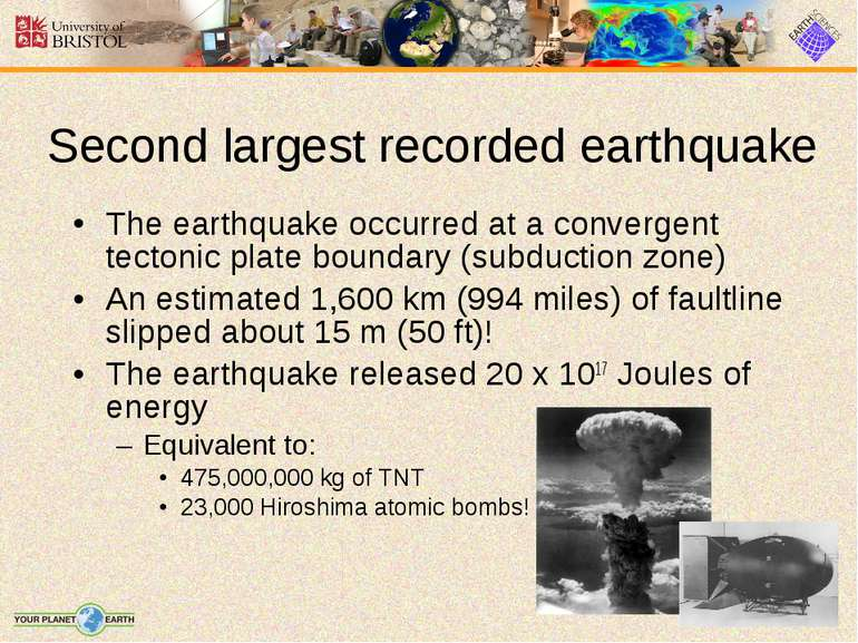 The earthquake occurred at a convergent tectonic plate boundary (subduction z...