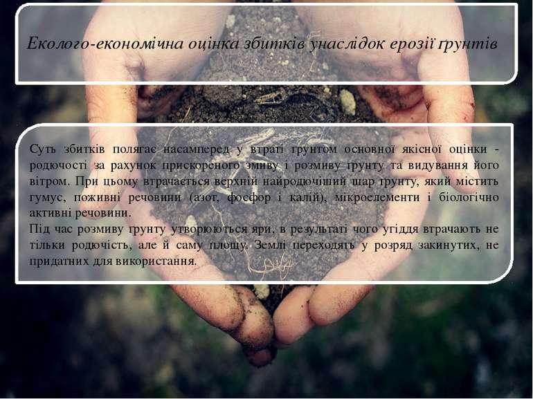 Суть збитків полягає насамперед у втраті ґрунтом основної якісної оцінки - ро...