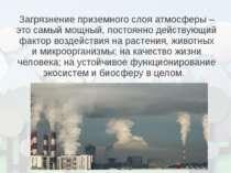 Загрязнение приземного слоя атмосферы – это самый мощный, постоянно действующ...
