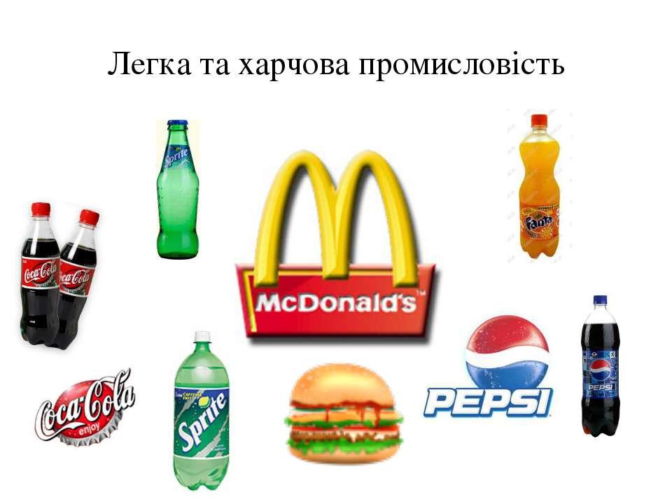 Легка та харчова промисловість