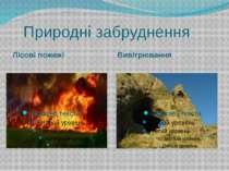 Природні забруднення Лісові пожежі Вивітрювання