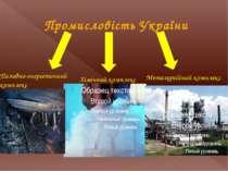 Промисловість України Металургійний комплекс Хімічний комплекс Паливно-енерге...
