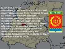 10-місце Дзержинськ, Росія Відповідно до звітів екологів в 1930 – 1998 роках...