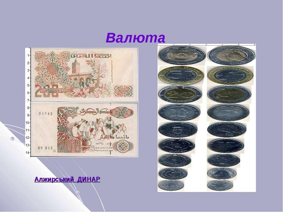 Валюта Алжирский ДИНАР Алжирський ДИНАР