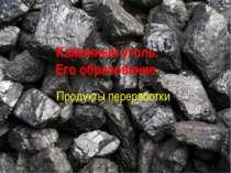 Каменный уголь. Его образование. Продукты переработки