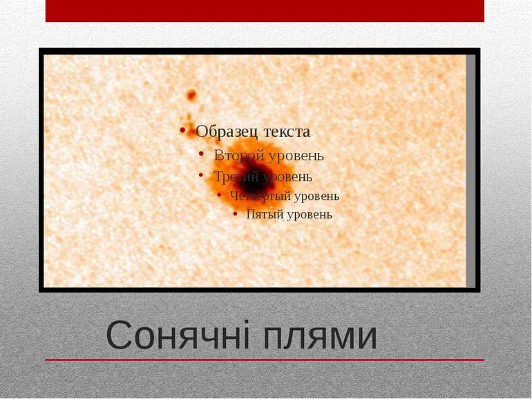 Сонячні плями