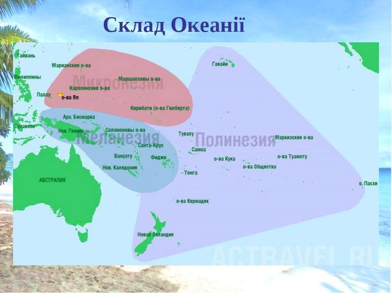Склад Океанії