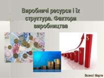 Виробничі ресурси і їх структура. Фактори виробництва Возної Марти