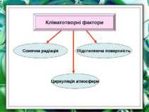 Кліматотворні фактори Циркуляція атмосфери Сонячна радіація Підстиляюча повер...