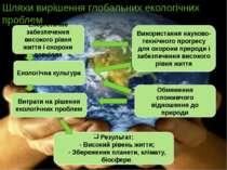 Шляхи вирішення глобальних екологічних проблем Енергетичне забезпечення висок...