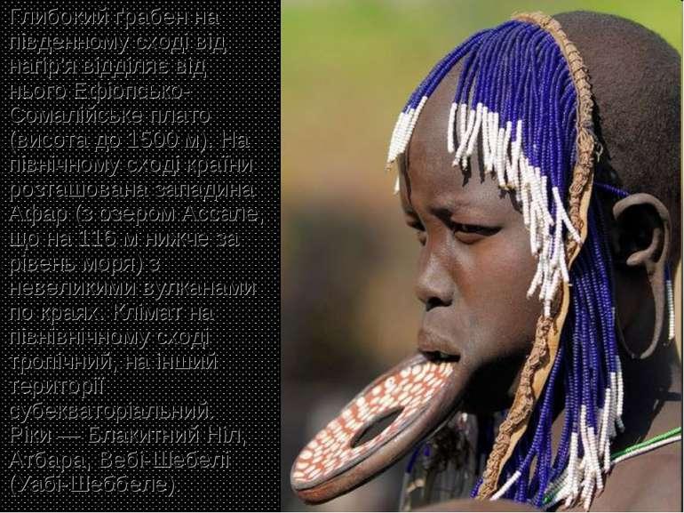 Глибокий ґрабен на південному сході від нагір'я відділяє від нього Ефіопсько-...