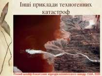 Інші приклади техногенних катастроф Пінний шлейф бокситових відходів алюмініє...