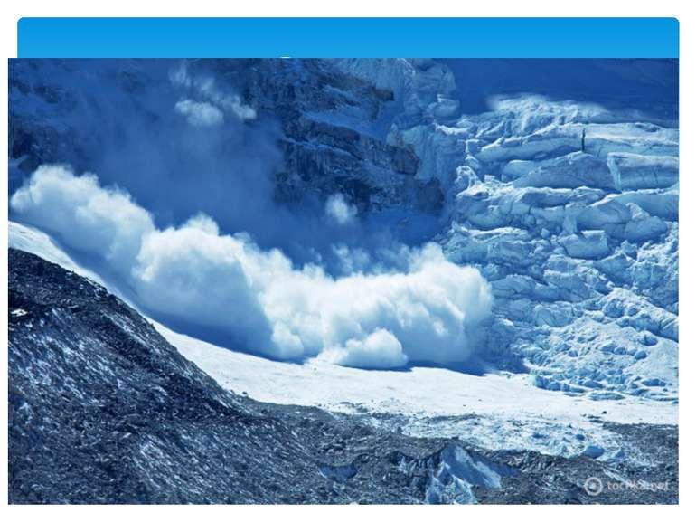 При осовах виникає відрив та сповзання снігових мас по схилу, але сніг, що ле...