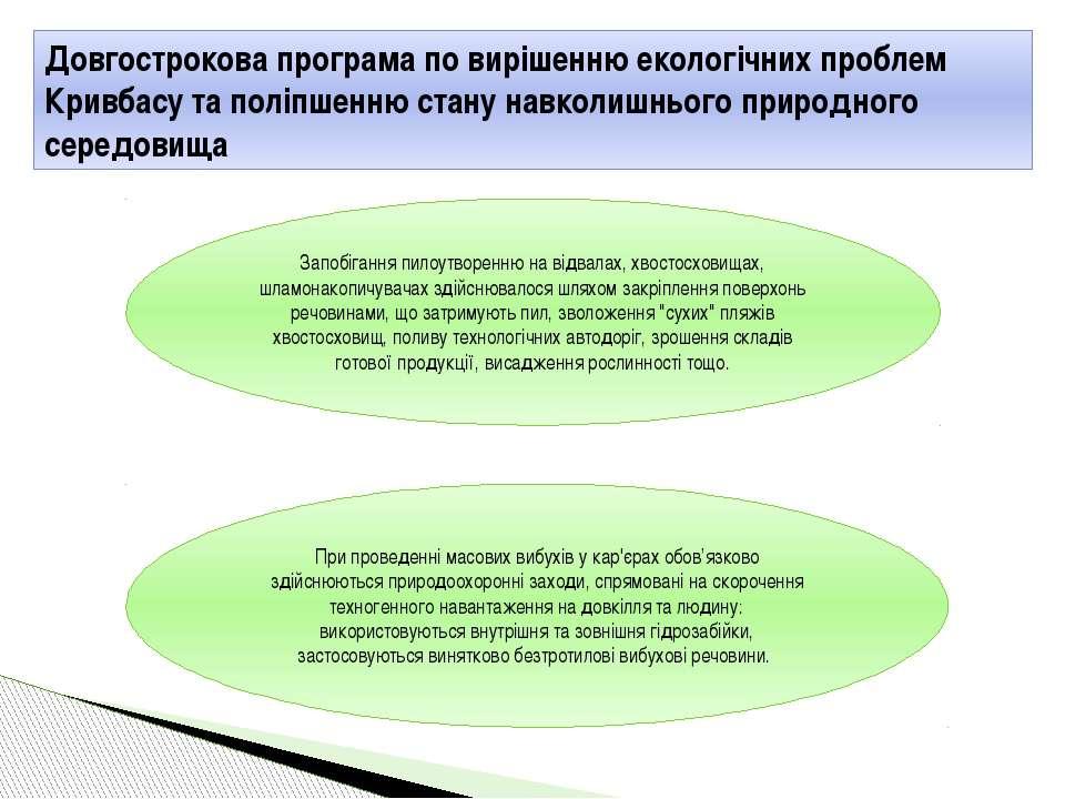 Довгострокова програма по вирішенню екологічних проблем Кривбасу та поліпшенн...