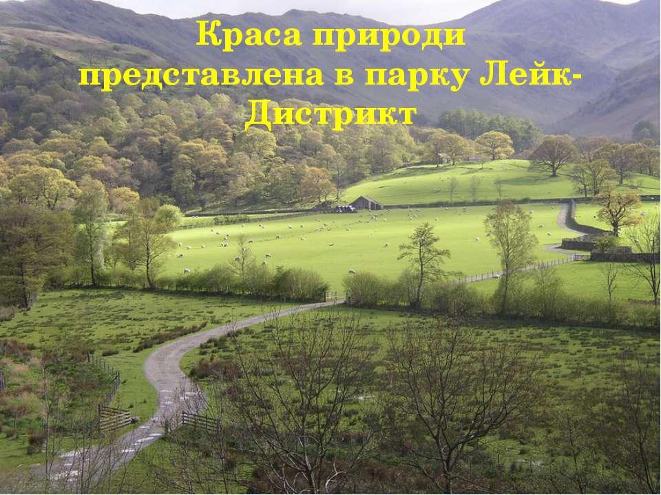 Краса природи представлена в парку Лейк-Дистрикт