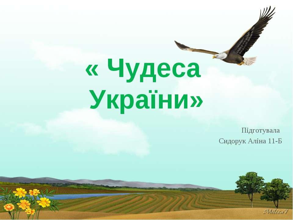 « Чудеса України» Підготувала Сидорук Аліна 11-Б