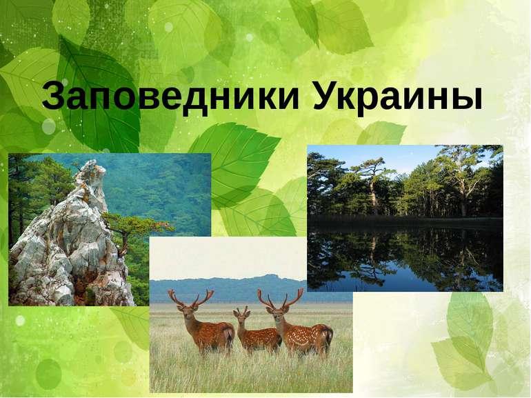 Заповедники Украины