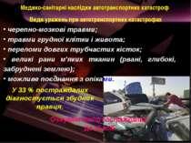 Медико-санітарні наслідки автотранспортних катастроф черепно-мозкові травми; ...