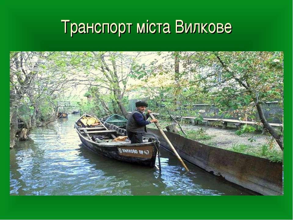 Транспорт міста Вилкове