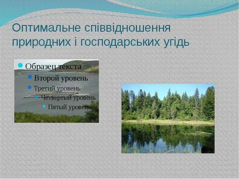 Оптимальне співвідношення природних і господарських угідь