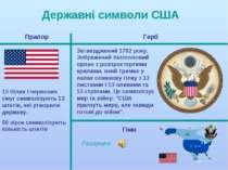 Державні символи США 13 білих і червоних смуг символізують 13 штатів, які утв...