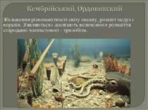 Збільшення різноманітності світу океану, розквіт медуз і коралів. З'являються...