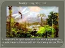 У цей період на суші поширюються ліси з деревовидних хвощів, плаунів і папоро...
